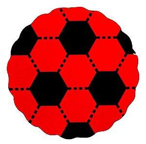 Tapetinhos Fundo para doces Futebol Vermelho e Preto - 100Un