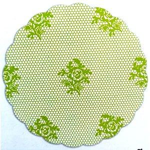 Tapetinhos Fundo para doces Rendado Verde Limão - 100Un
