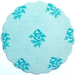 Tapetinhos Fundo para doces Rendado Verde Tiffany - 100Un