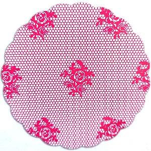Tapetinhos Fundo para doces Rendado Pink - 100Un