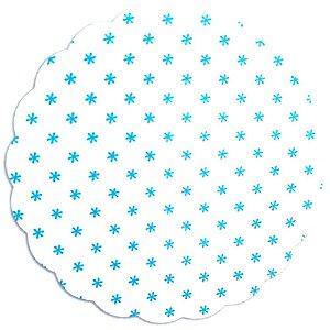 Tapetinhos Fundo para doces Asterisco Azul Claro - 100Un