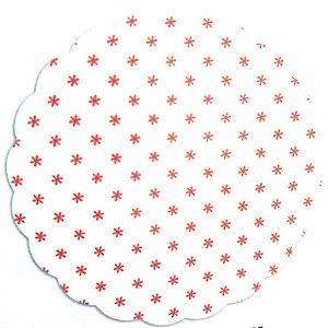 Fundo para doces Asterisco Vermelho - Medidas Variadas - 100Un