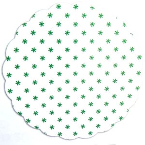 Tapetinhos Fundo para doces Asterisco Verde Escuro - 100Un