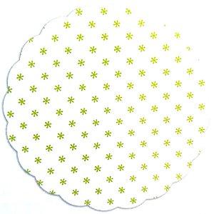 Tapetinhos Fundo para doces Asterisco Verde Limão - 100Un