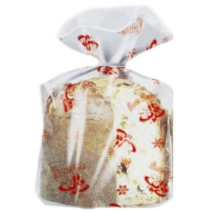 Saco decorado para Panetone Natal Vermelho - Medidas Variadas