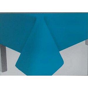 Toalha de Mesa Plástico Lisa Azul Claro - 10 unidades - Medidas Variadas