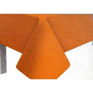 Toalha de Mesa Plástico Lisa Laranja - 10 unidades - Medidas Variadas