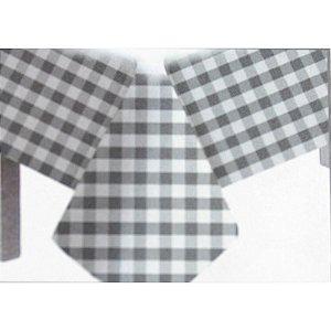 Toalha de Mesa Plástico Xadrez Prata - 10 unidades - Medidas Variadas