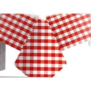 Toalha de Mesa Plástico Xadrez Vermelho - 10 un - Medidas Variadas