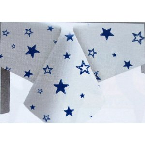 Toalha de Mesa Plástico Estrela Azul Escuro - 10 un - Medidas Variadas
