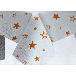 Toalha de Mesa Plástico Estrela Laranja - 10 un - Medidas Variadas