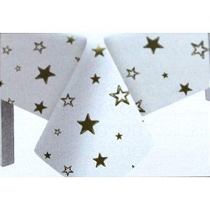 Toalha de Mesa Plástico Estrela Ouro - 10 un - Medidas Variadas