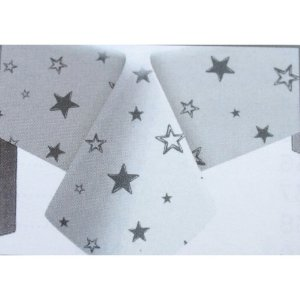 Toalha de Mesa Plástico Estrela Prata - 10 un - Medidas Variadas