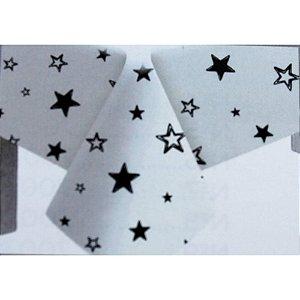 Toalha de Mesa Plástico Estrela Preto - 10 un - Medidas Variadas
