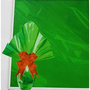 Embalagem Folha Poli Páscoa 69x89 Verde - 25un