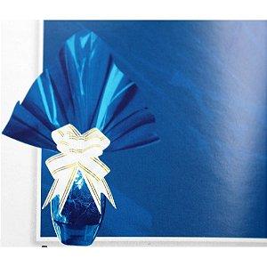 Embalagem Folha Poli Páscoa 69x89 Azul - 25un