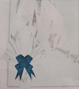 Folha Poli Metalizado Páscoa 69x89 Branco - 25 Un