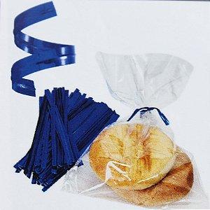 Fecho Prático Metalizado Azul - 0,4x10cm - 100 unidades