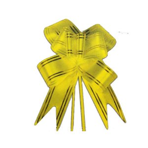 Laço Pronto Borboleta Fio Dourado Amarelo - 10 unidades - Medidas Variadas