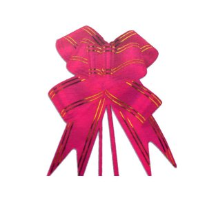 Laço Pronto Borboleta Fio Dourado Pink - 10 unidades - Medidas Variadas