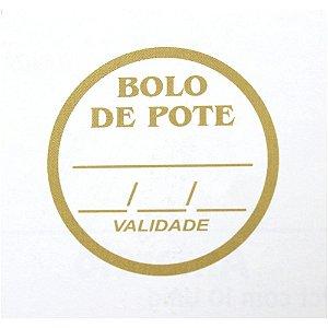 Etiqueta Adesiva Bolo de Pote Sabor e Validade - 100 un