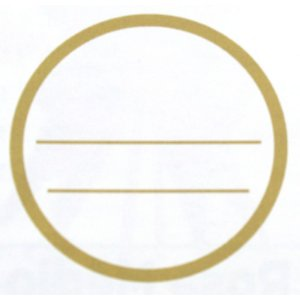Etiqueta Adesiva Traço Redonda Sabor e Validade - 100 unidades