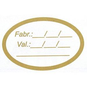 Etiqueta Adesiva Redonda Fabricação e Validade - 100 un