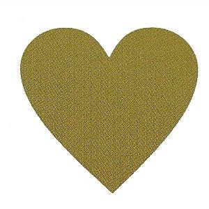 Etiqueta Adesiva Coração Ouro - 100 unidades