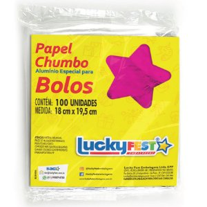 Papel Chumbo para Bolos e Ovos 18x19,5cm - Pink - 100 Folhas