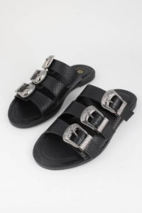 Rasteira Birken West Black