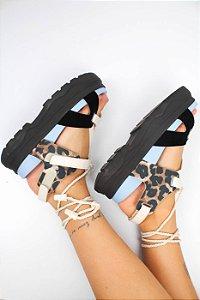 Sandália Azul Print