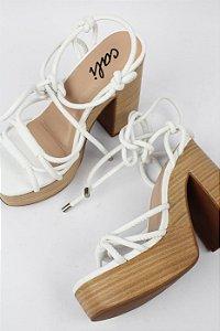 Sandália Branca Wood