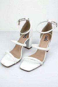 Sandália Salto Cora Branca
