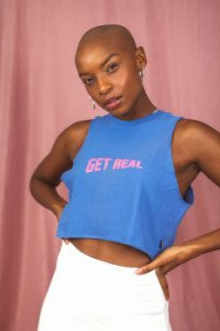 T-shirt Cropped Get Real