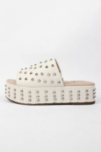Tamanco Spike Off White