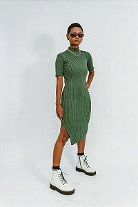 Vestido Midi Golinha Verde