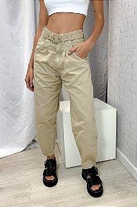 Calça Jeans Baggy Bege