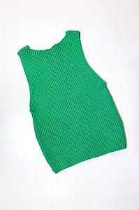 Cropped Canelado Tricot Verde Bandeira