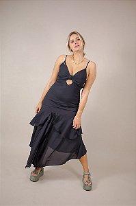 Vestido Midi Victoria Preto
