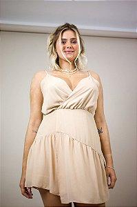 Vestido Curto Clara Bege