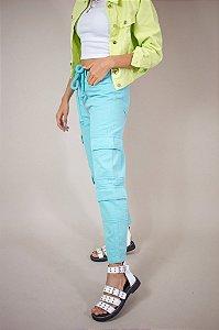 Calça Jeans Cargo Blue