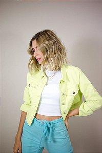 Jaqueta Jeans Verde Lima