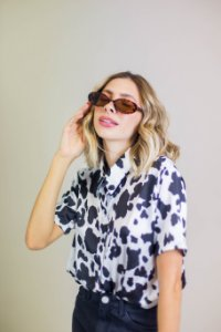 Camisa Cropped Cow