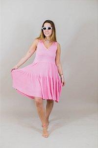 Vestido Tricot Lomita Rosa