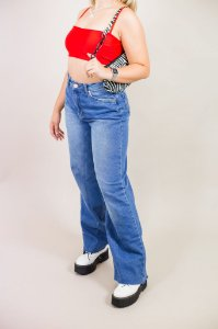 Calça Jeans Reta Clássica