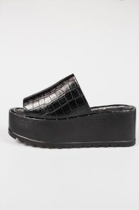 Tamanco Croco Black