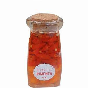 Mini Conserva de Pimenta Gourmet sem conservantes - Tinteiro Quadrado 245gr