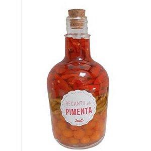 CONSERVA DE PIMENTA Gourmet - Moringa sem alça 655gr  Pimenta Malagueta vermelha, Malagueta verde e Cumari do Pará
