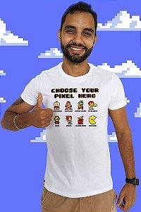 Pixel Heroes (T-shirt Unissex)