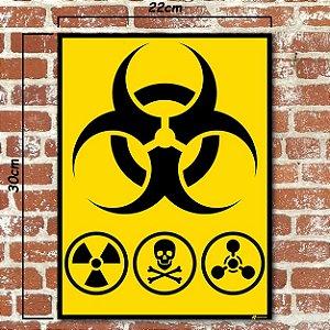 Placa decorativa Risco Biológico